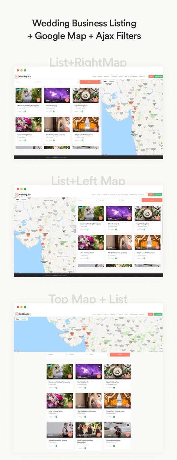 Wedding city - Directory & Listing WordPress Theme
